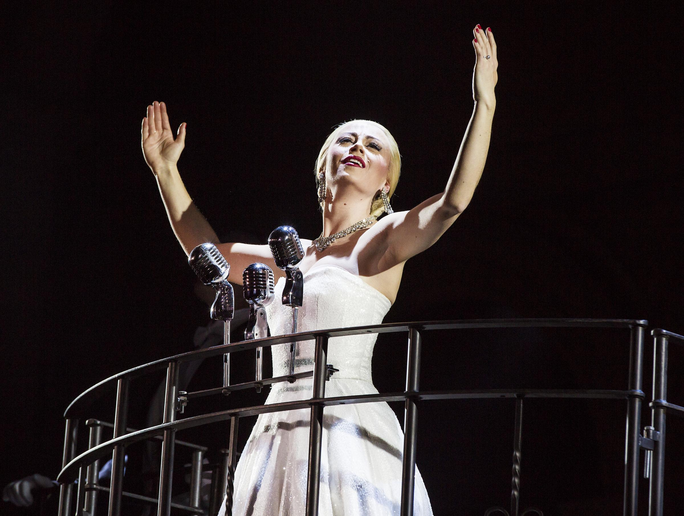 Madalena Alberto steals the stage in Evita. Pictures: Keith Pattison