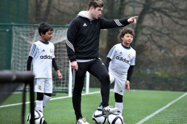 Real Madrid are holding coaching sessions with Bradford junior club Alpha United Juniors to help improve the childrenâs footballing ability..