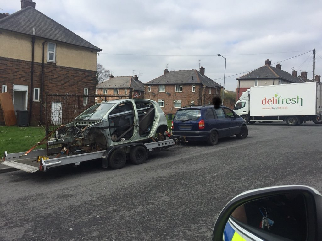 Car seized in Bradford today for two major issues