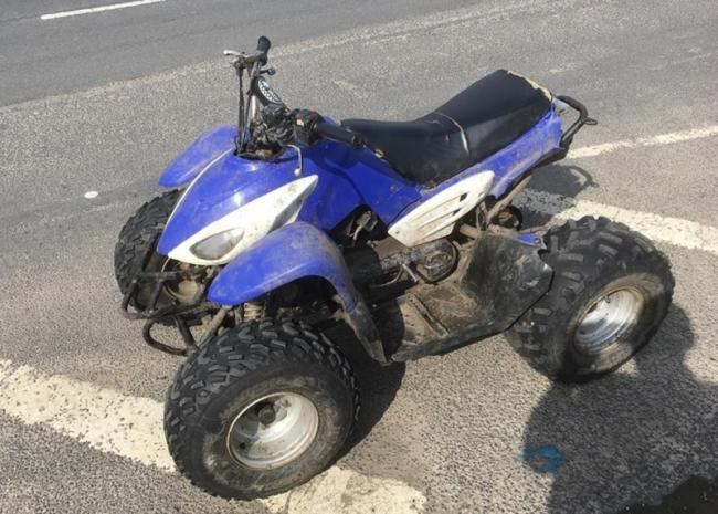 woman drove quad bike on west bowling road in manner likely to