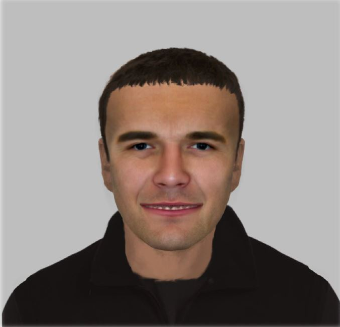An e-fit of the man wanted by police in connection with a burglary in Lidget Green