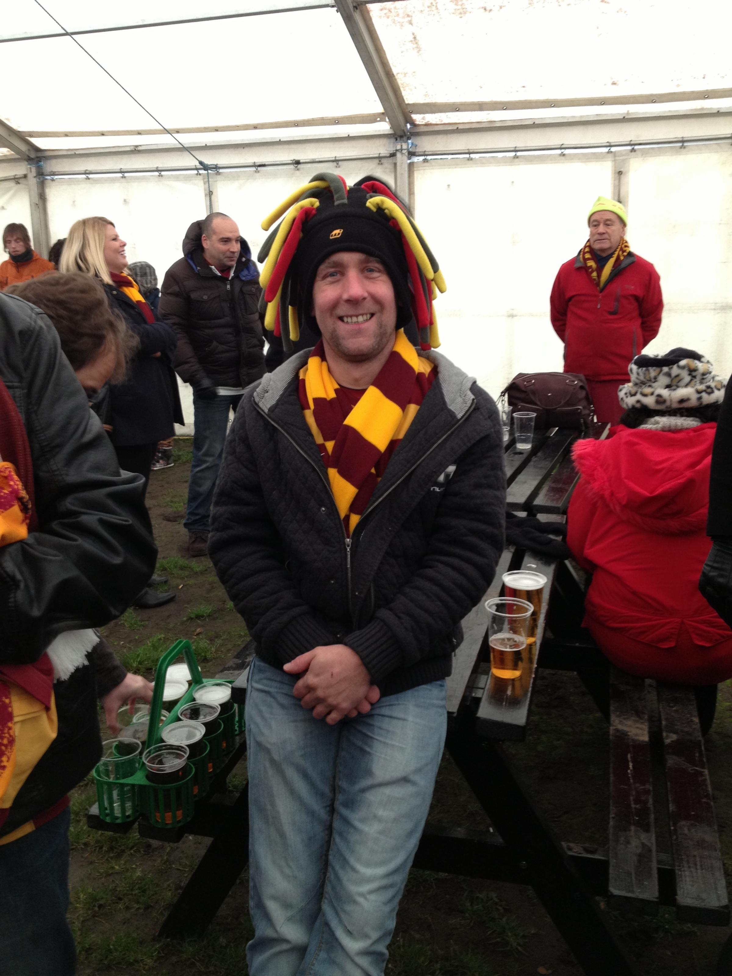 The funeral of Colin Harding, 39, will feature people wearing claret and amber, the colours of his beloved Bradford City