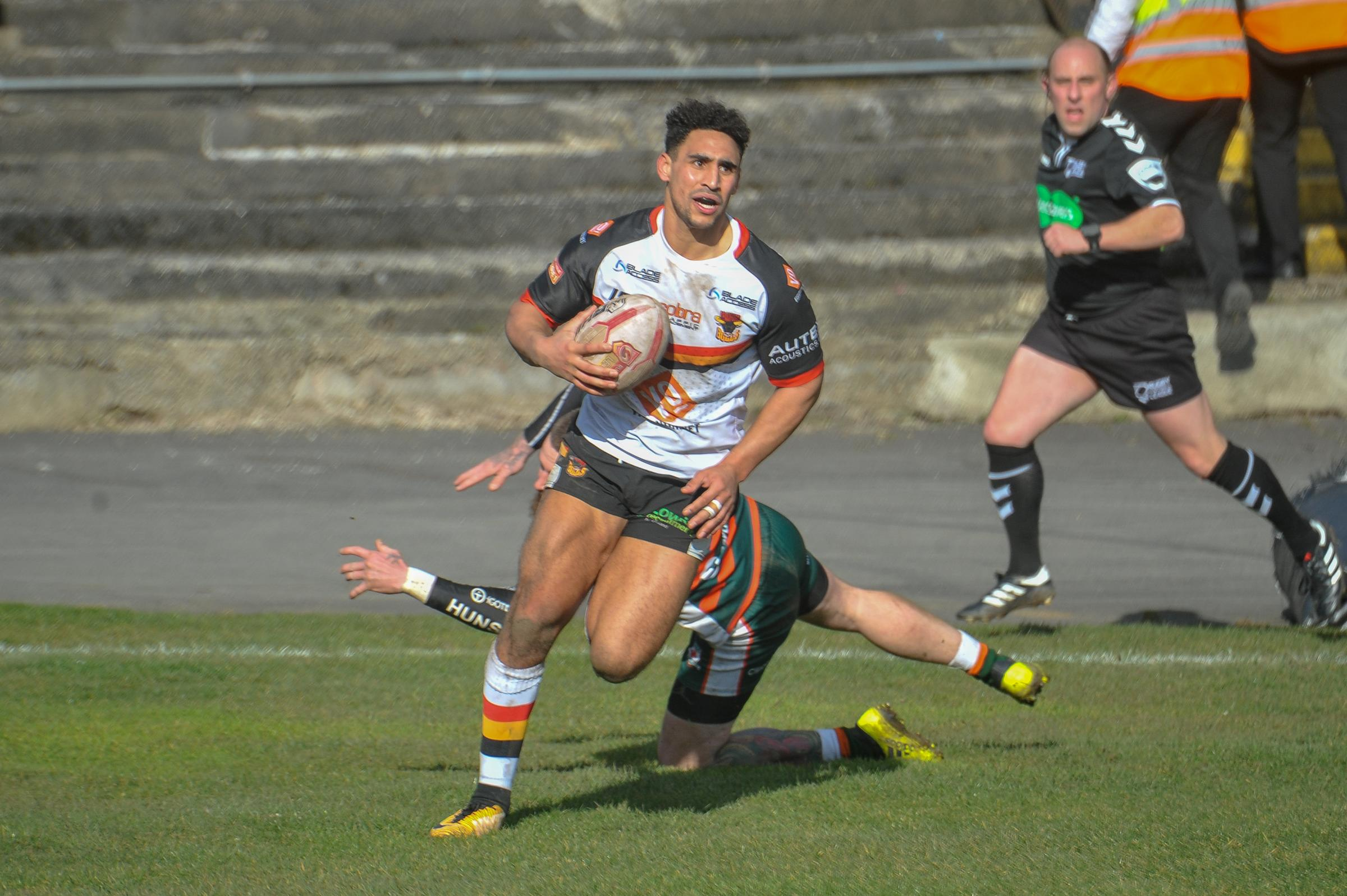 Dalton Grant will be looking to impress against Super League opposition today Picture: Tom Pearson