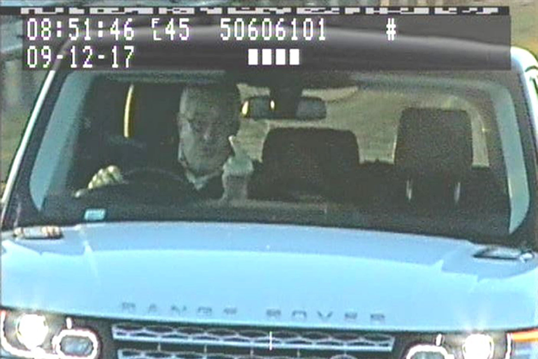 Resultado de imagen de Timothy Hill gestures at a speed camera (North Yorkshire Police/PA)