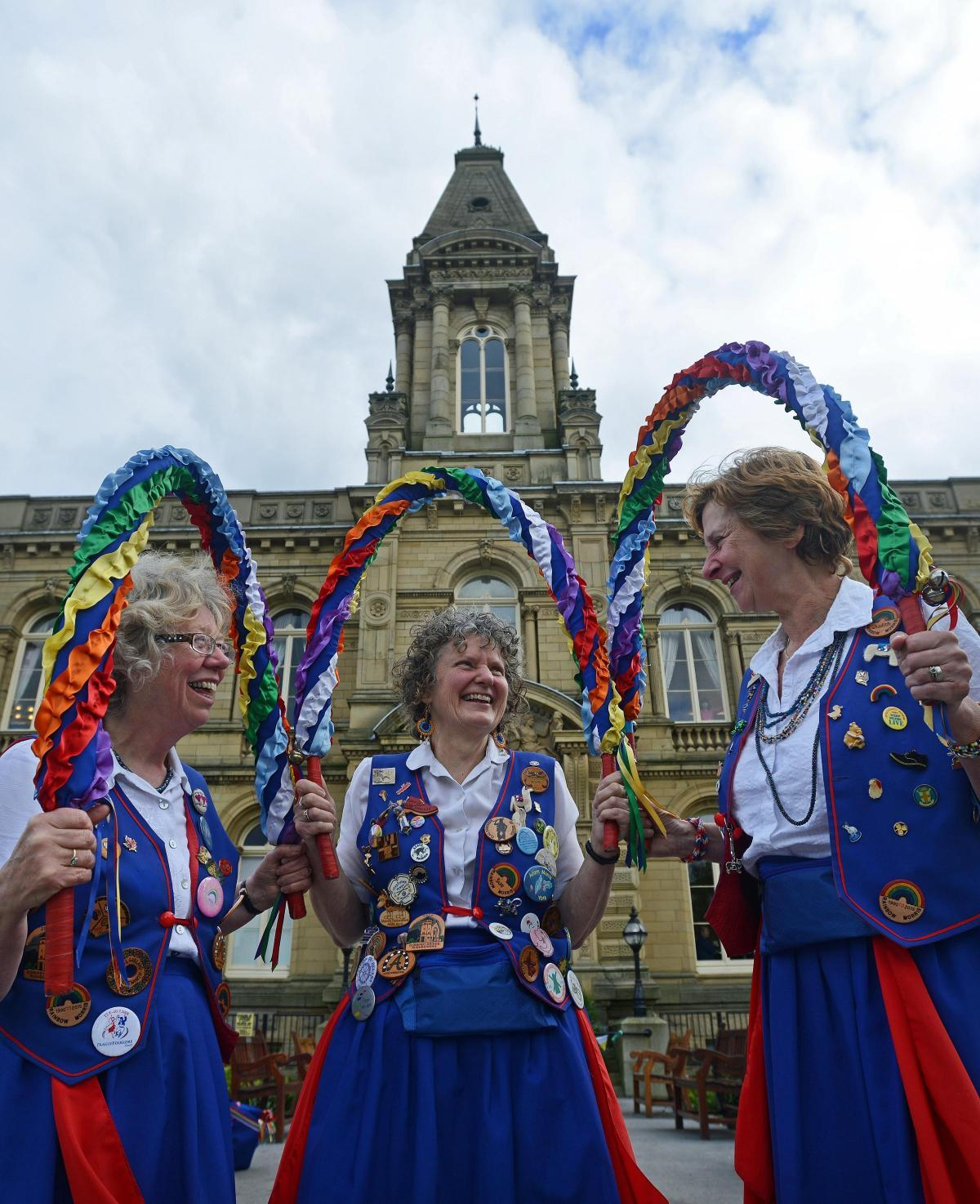 TRADITION: Morris dancers show their skills