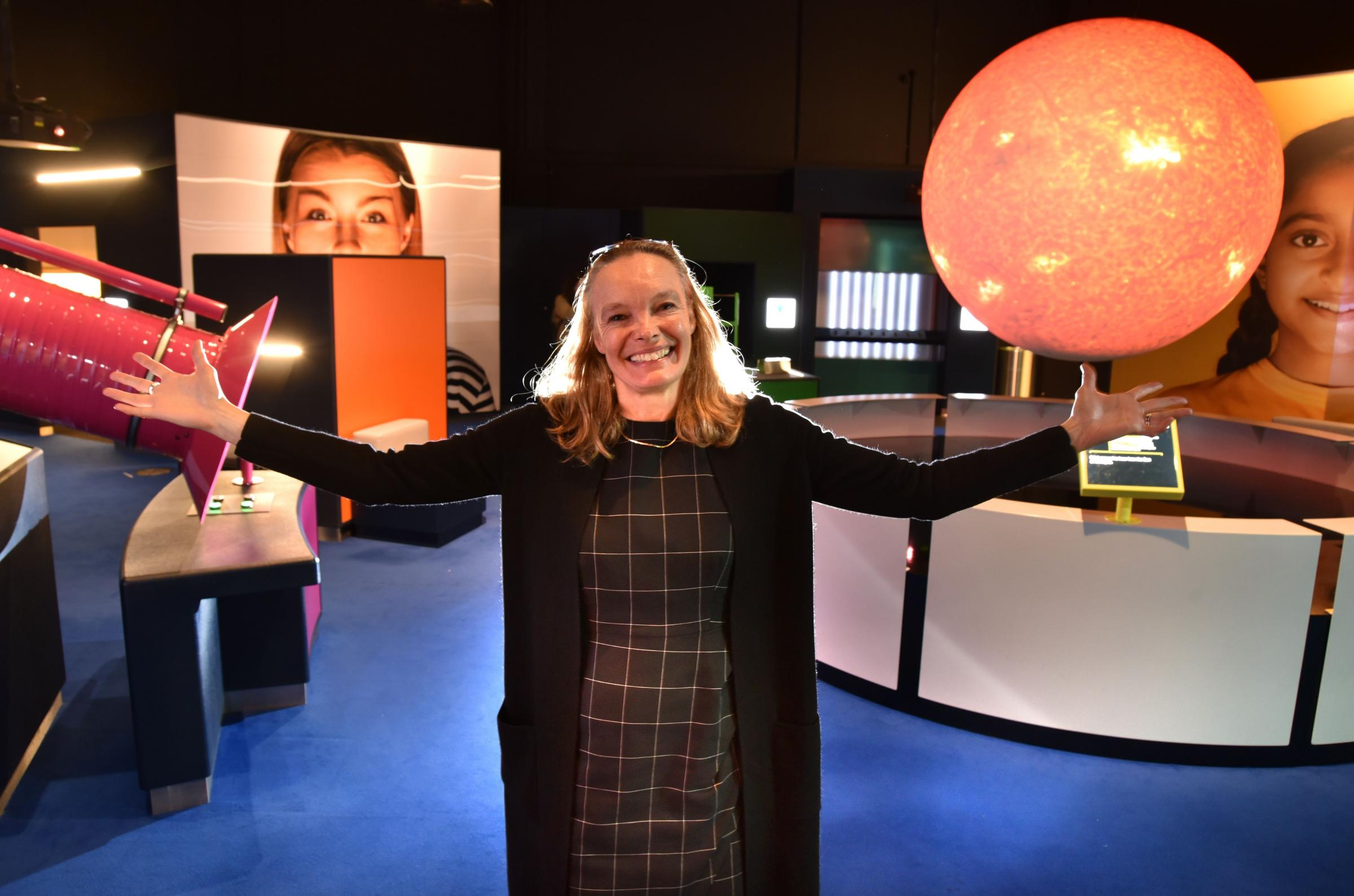 Jo Quinton-Tulloch, director of the National Science and Media Museum, in the Wonderlab.