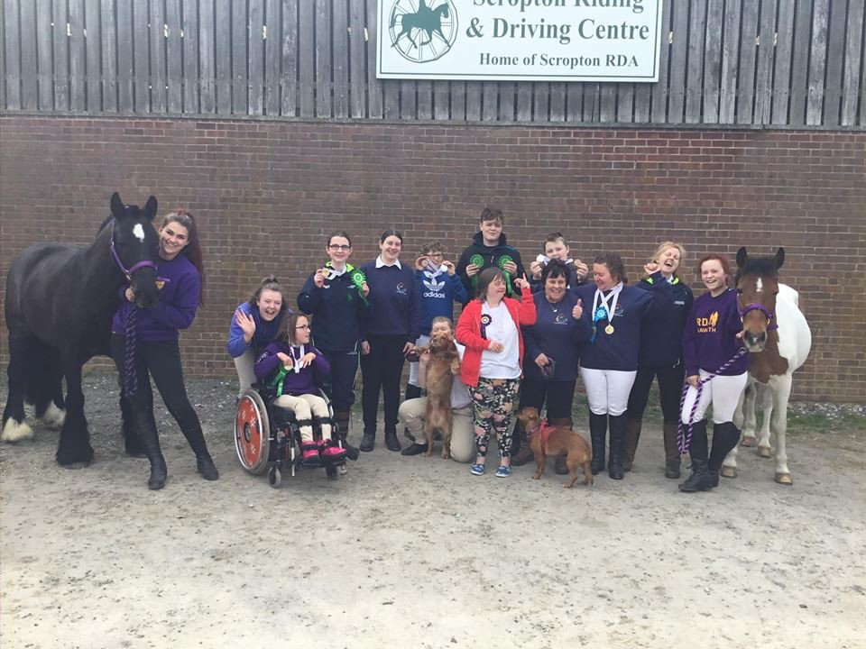 The Haworth Riding for the Disabled team at the Scropton Special Olympics