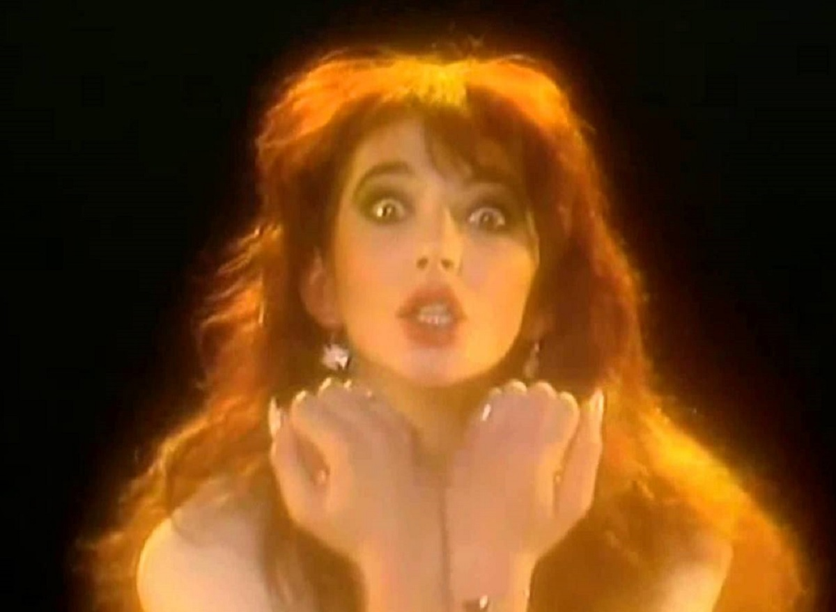 Kate Bush in her video for Wuthering Heights