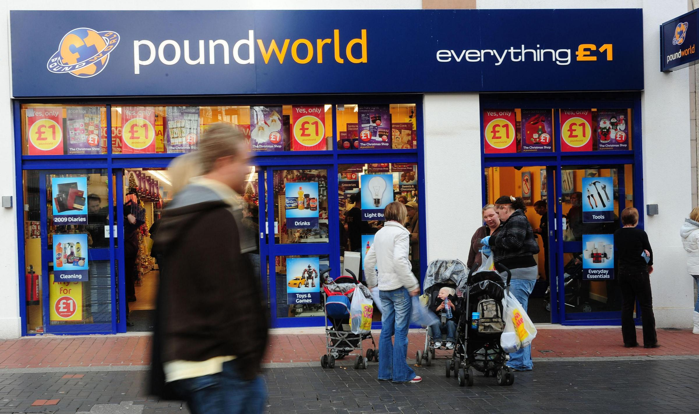 File photo 24/11/2008 of a Poundworld store in Leeds city centre. Discount chain Poundworld is pursuing a restructuring plan that could see it shut around a third of its stores, putting more than 1,500 jobs in doubt. PRESS ASSOCIATION Photo. Issue date: T