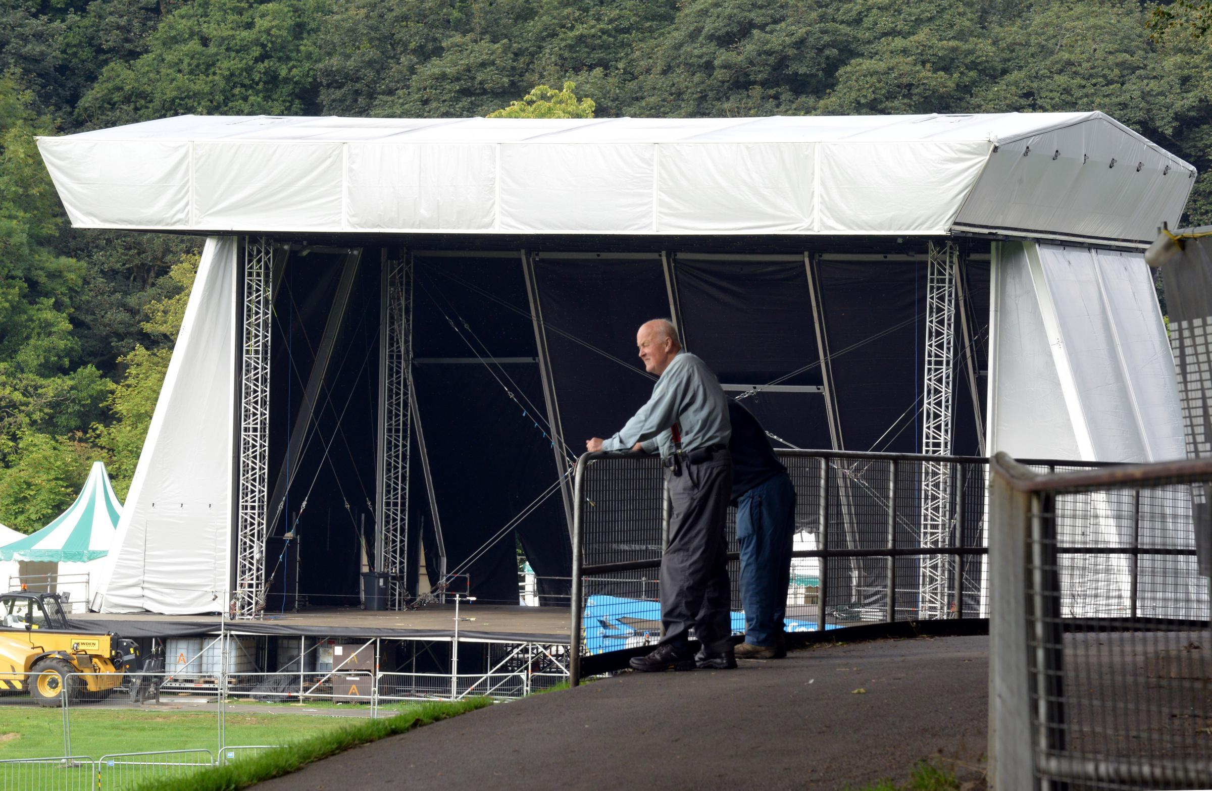 Getting ready for Bingley Music Live.