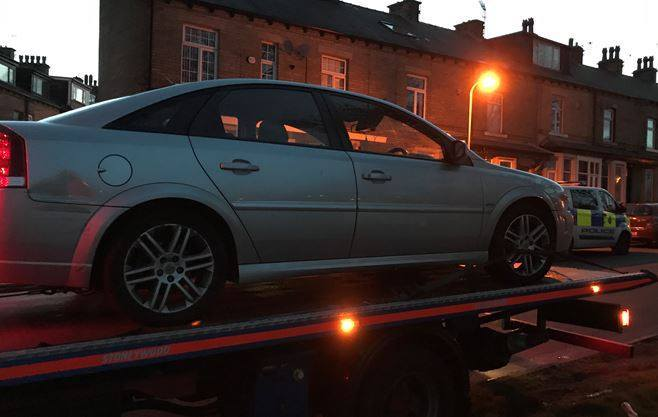 The car which failed to stop in Allerton was found in Girlington