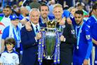 Christian Fuchs (second left) helped Leicester win a shock Premier League title in 2016 (Nigel French/Empics)