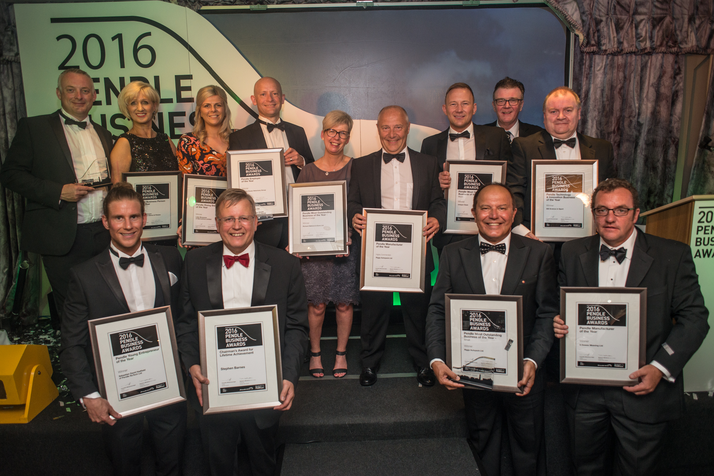 The Pendle Business Awards winners for 2016. Picture by Andy Ford