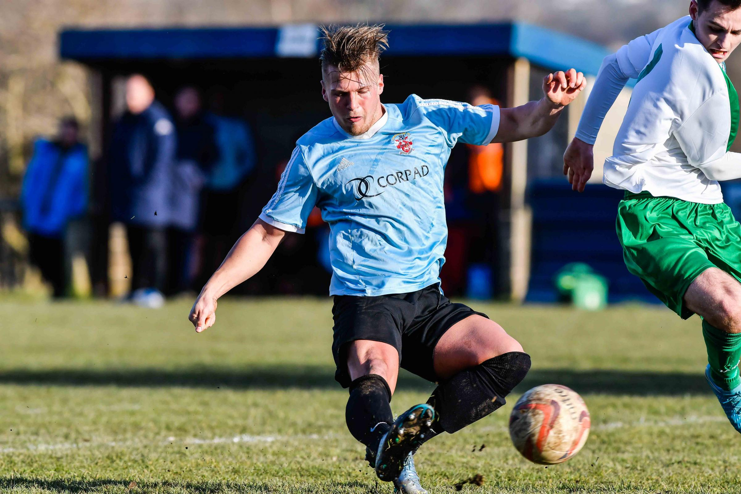 Rhys Davies was a late arrival for Liversedge through no fault of his own