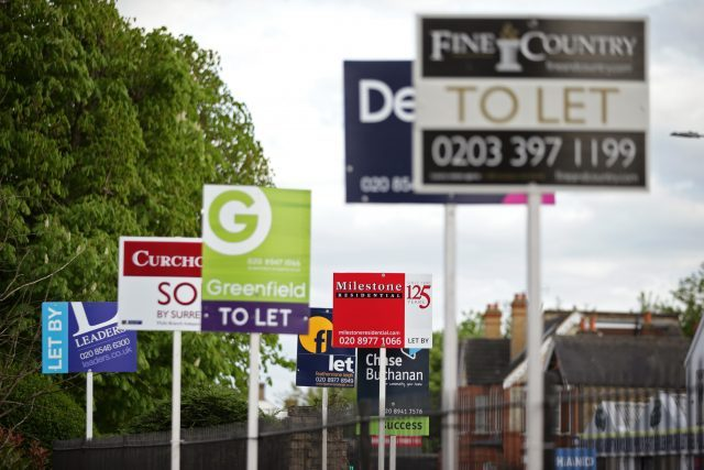 To Let signs. Picture:PA