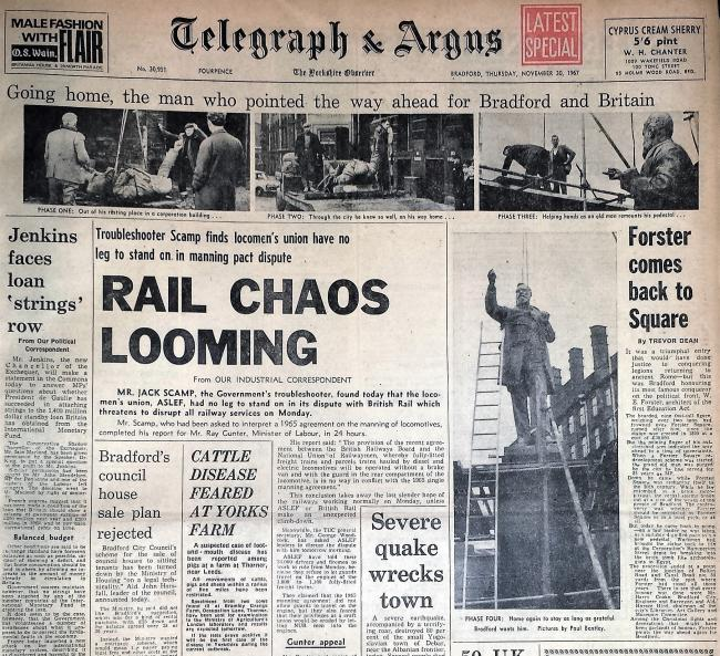 Telegraph & Argus Thursday November 30 1967