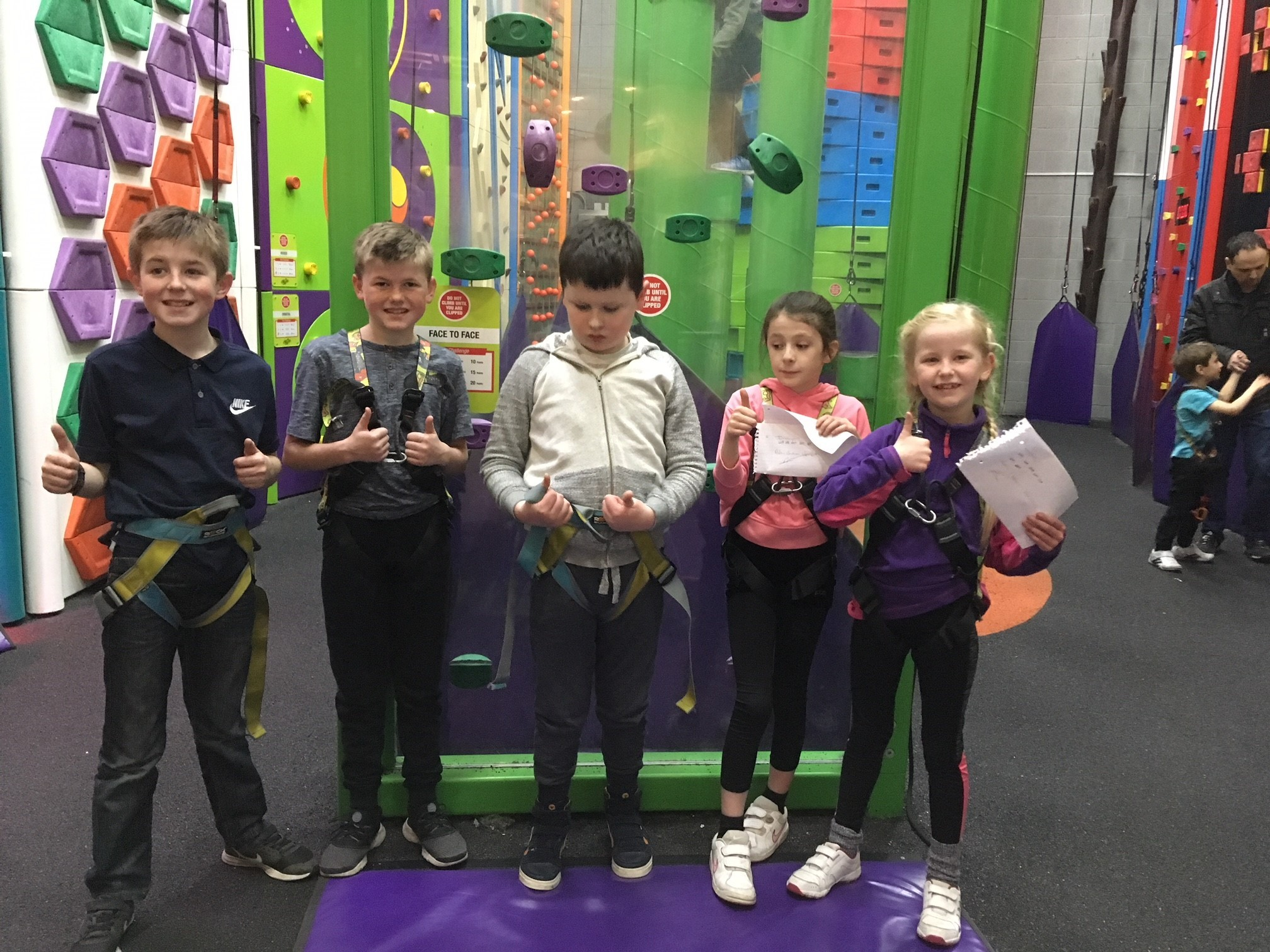 The youngsters are pictured during the charity event at Clip'nClimb Ilkley