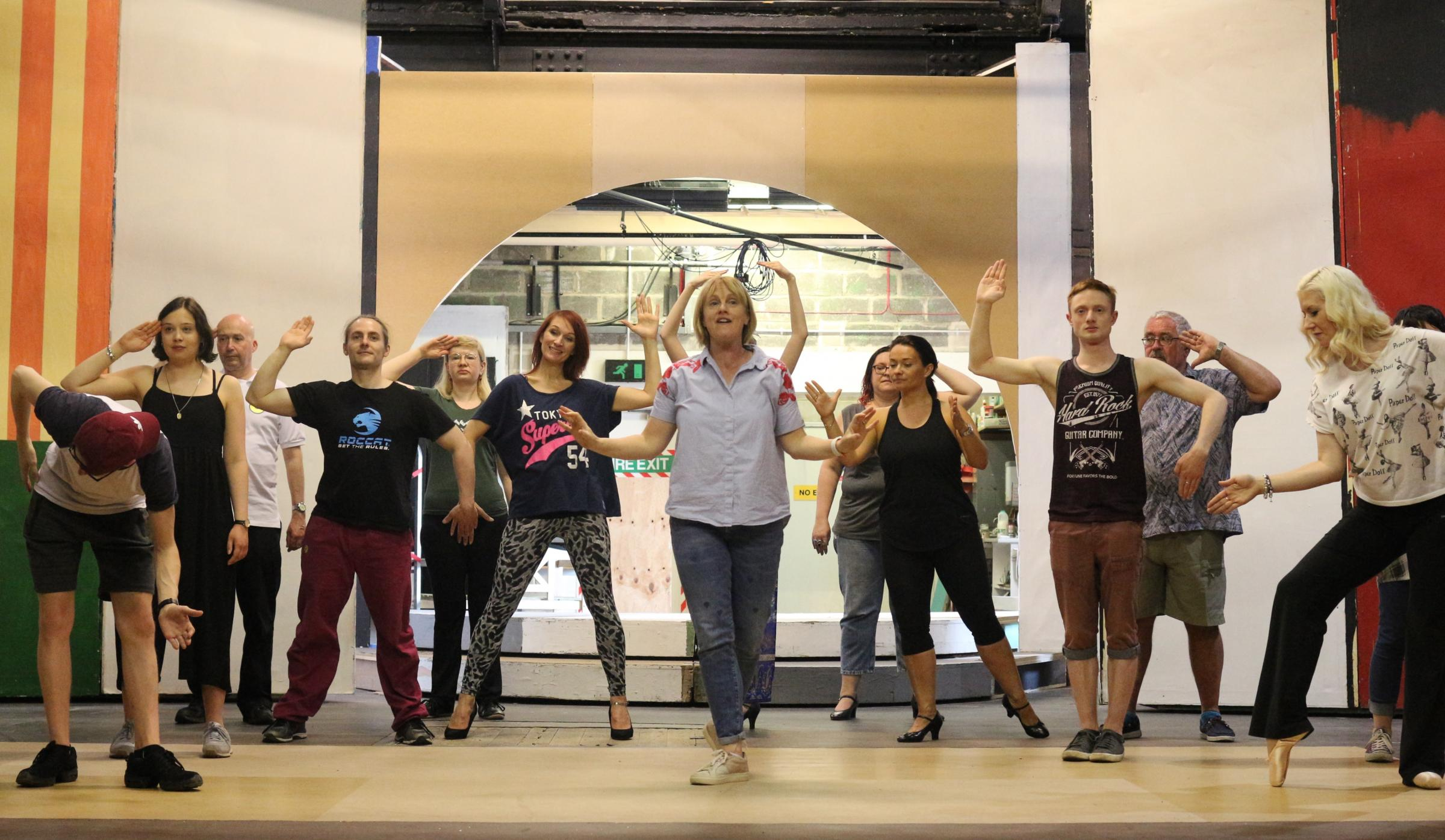 JAZZ HANDS: The cast of Ilkley Playhouse's show, Sweet Charity