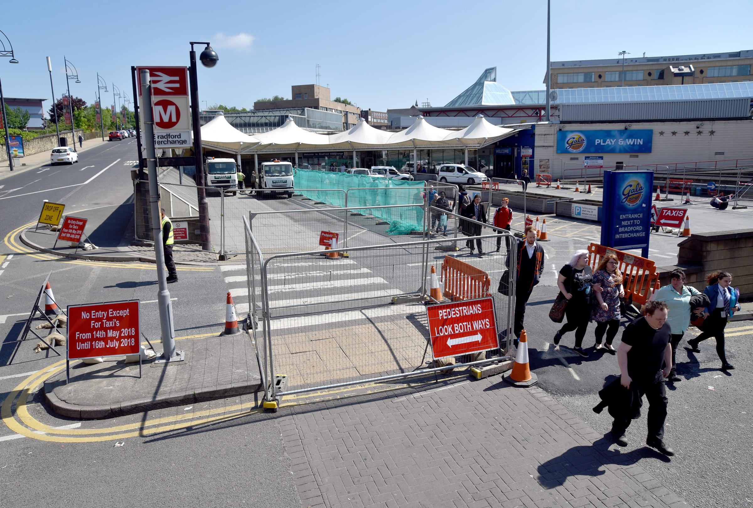 Work underway at Bradford Interchange