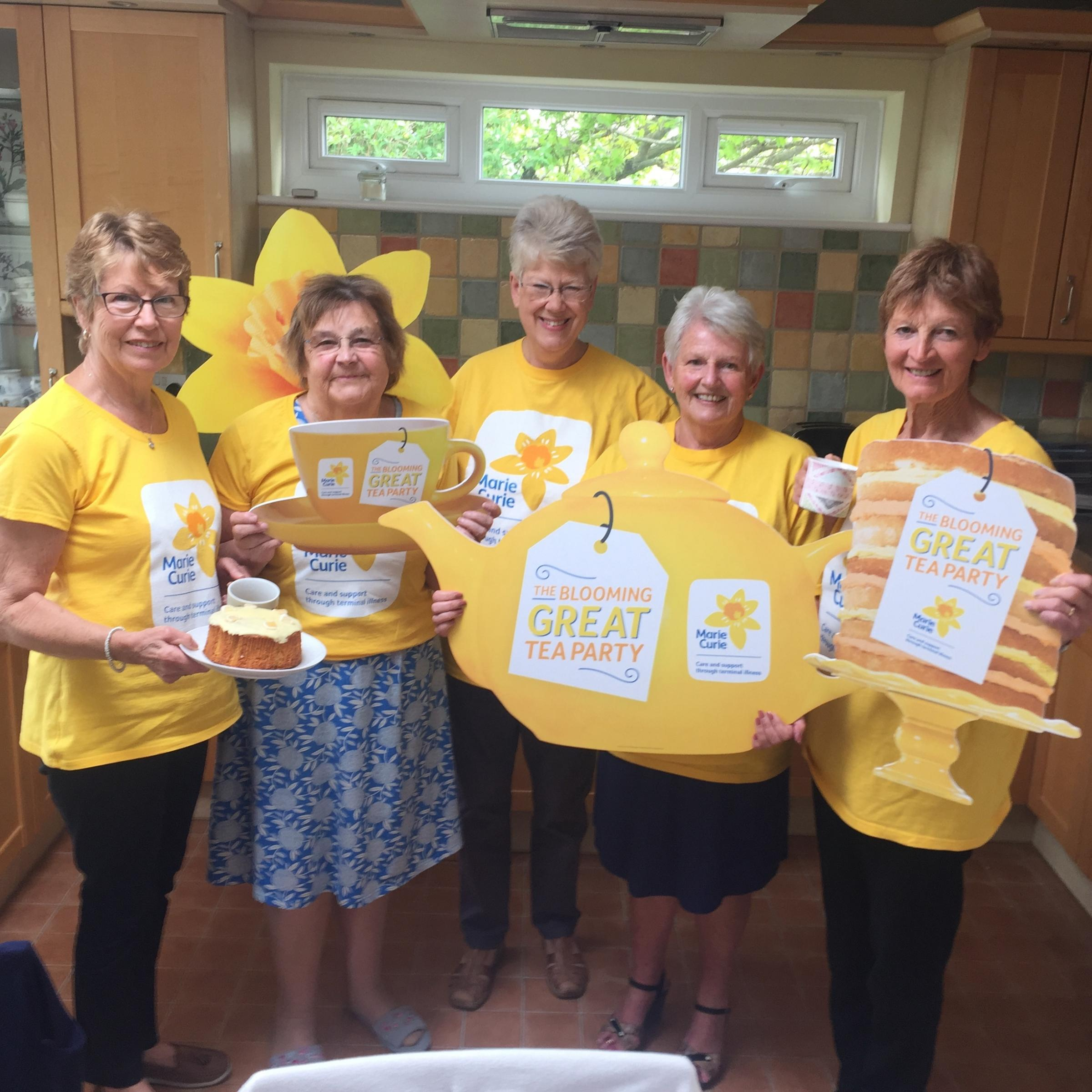 Baildon's Blooming Great Tea Party group are celebrating after hitting £50,000 in just over five years