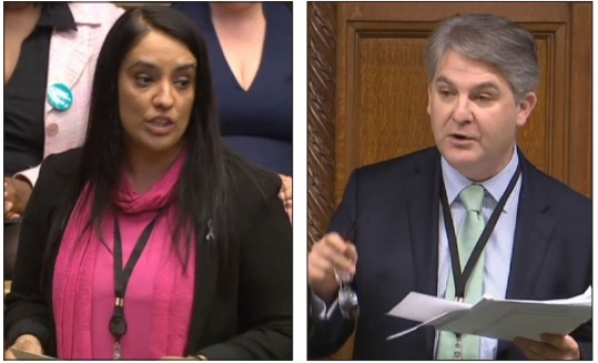 Naz Shah and Philip Davies
