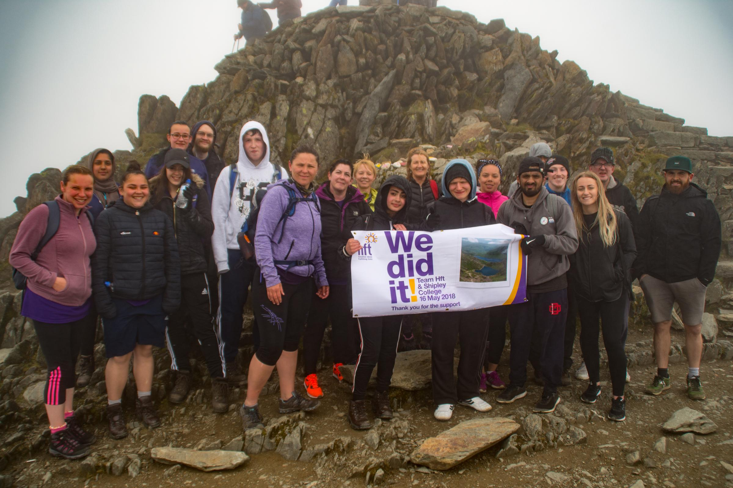 Snowdon Team at the Summit