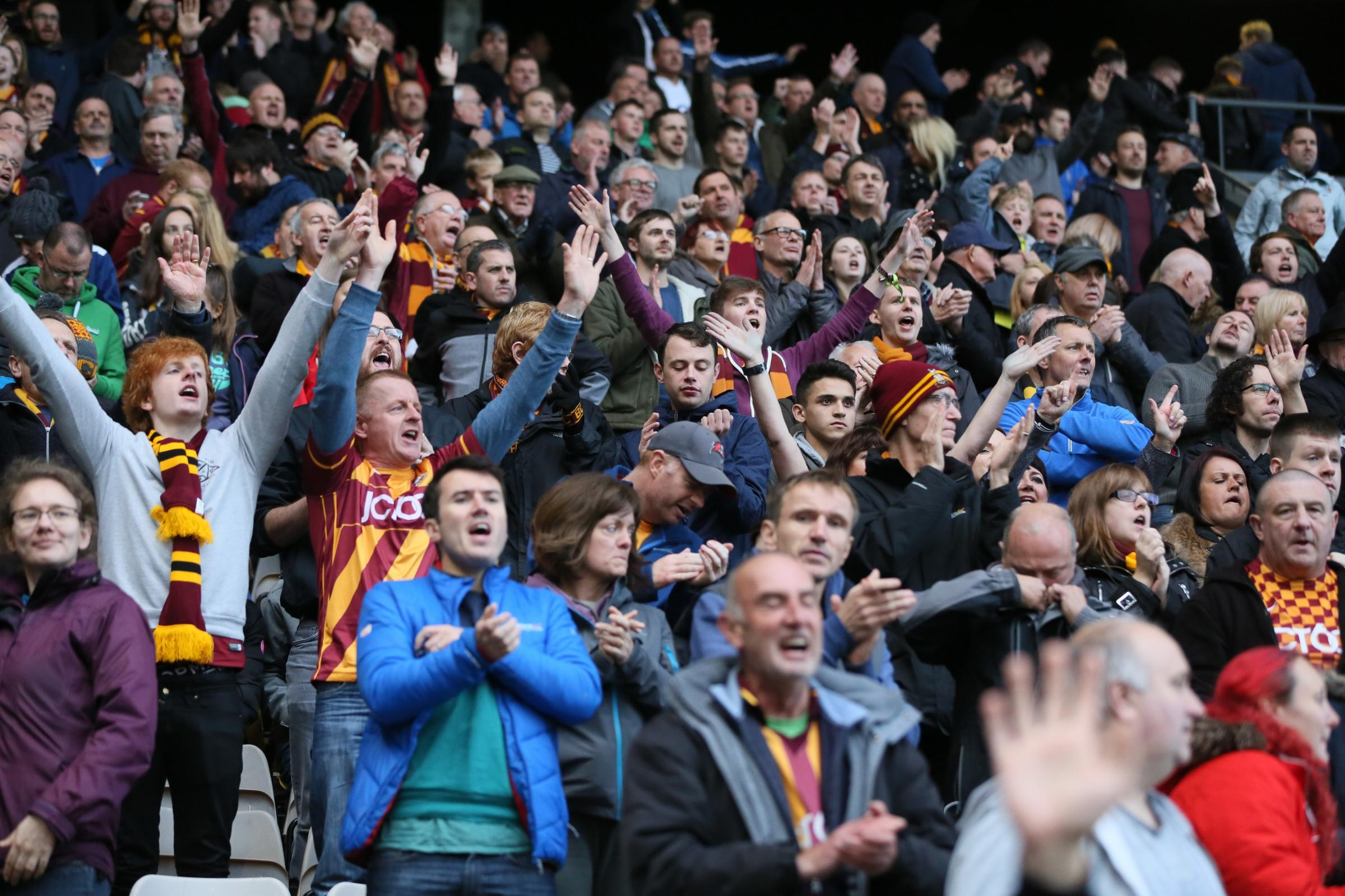 Bradford City had the highest average attendance in League One this season. Picture: Thomas Gadd