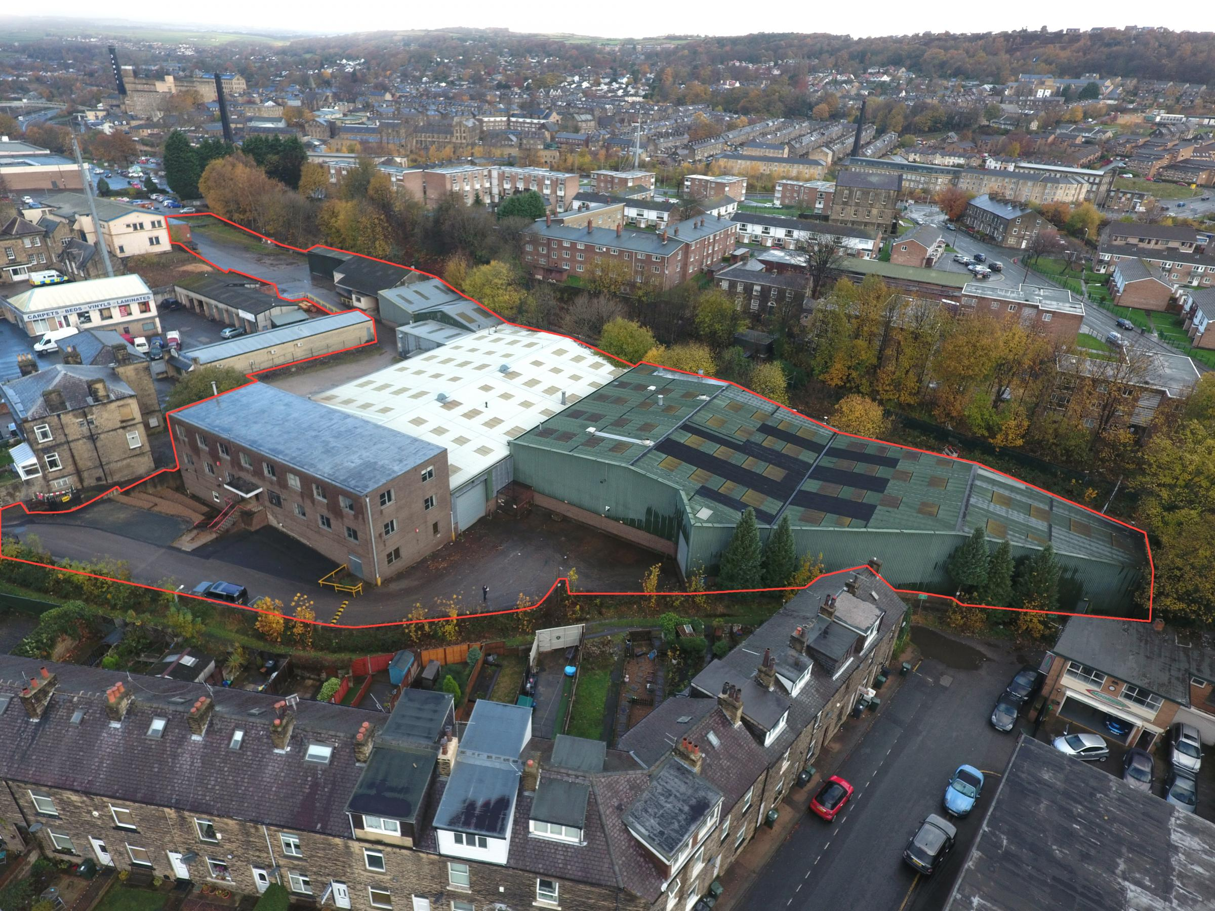 An aerial view of Don Whitley Scientific's new site in Bingley