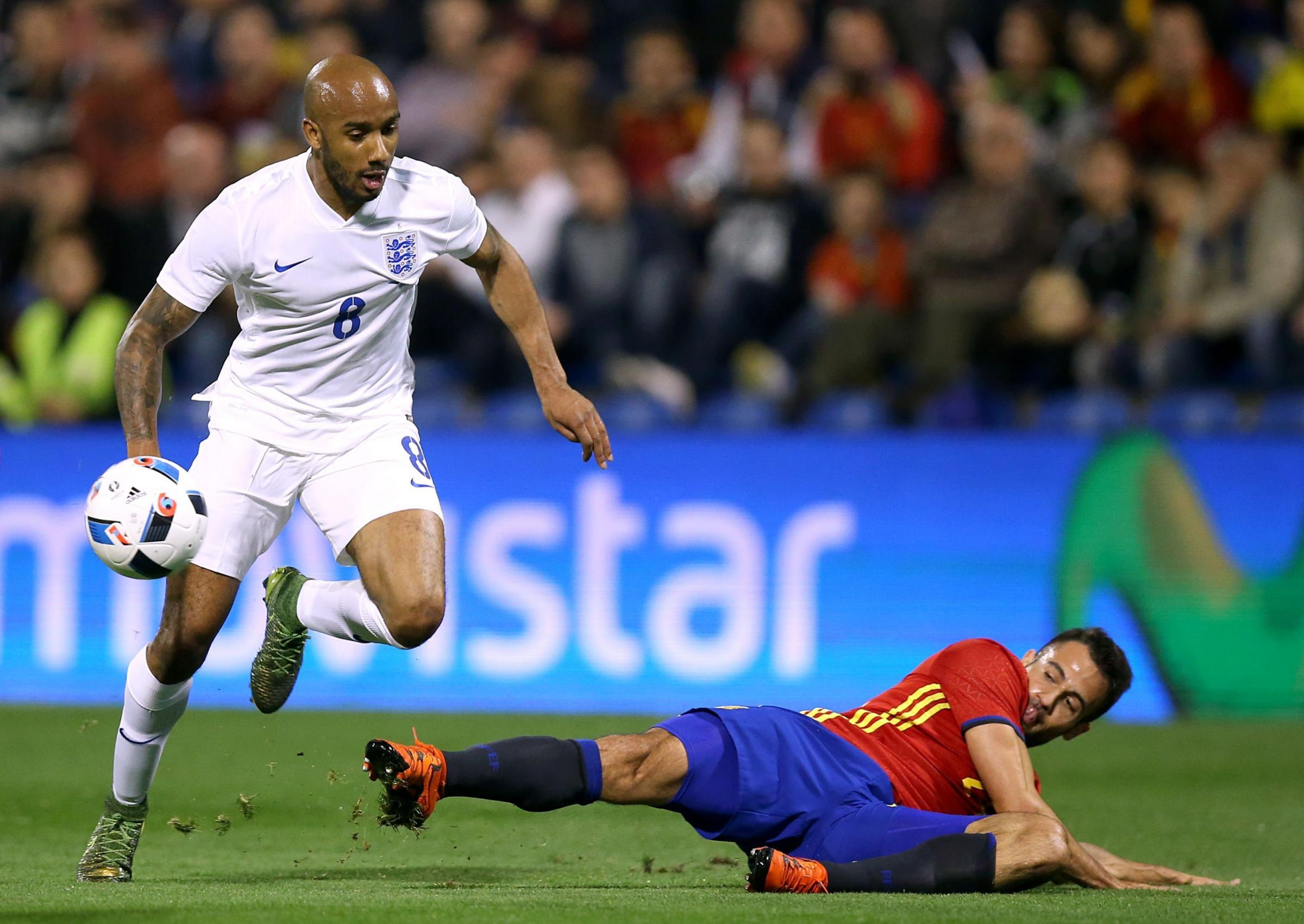INTERNATIONAL: Fabian Delph in action for England against Spain