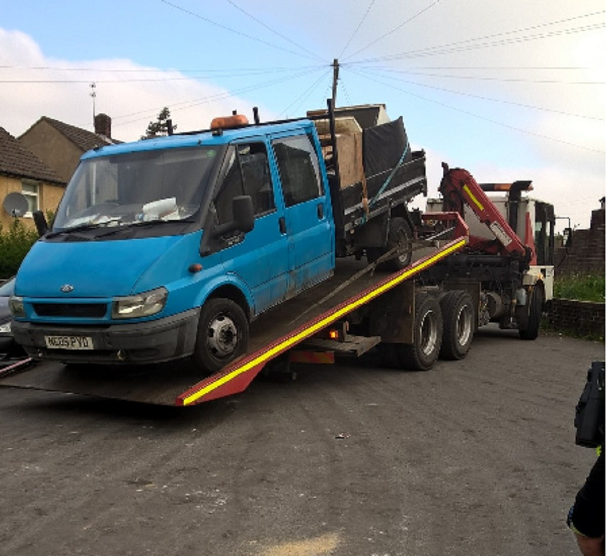 The tipper truck was seized in Wyke after an anonymous tip-off from the public. The vehicle had been seen fly-tipping