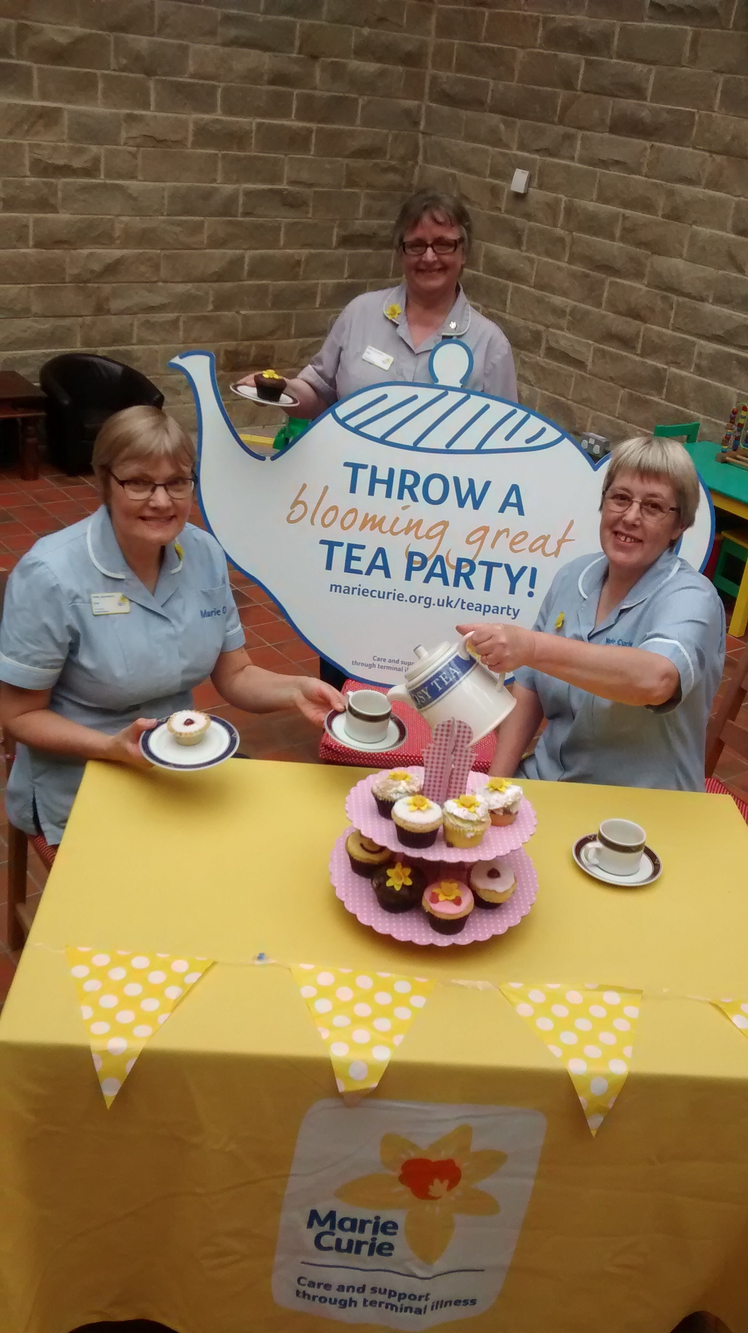 Marie Curie Blooming Great Tea Party nurses