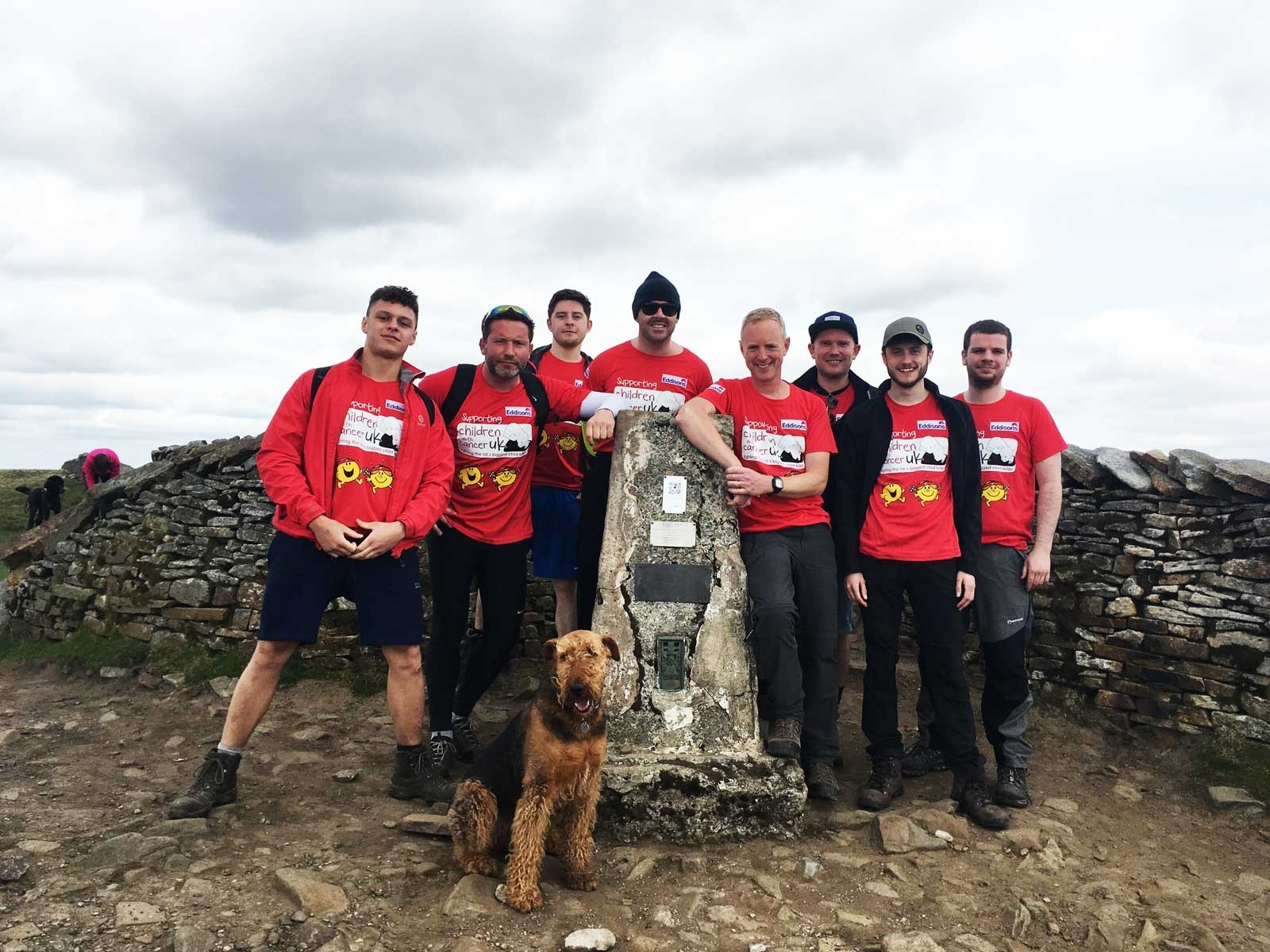The men from Eddisons, fresh from their Three Peak challenge