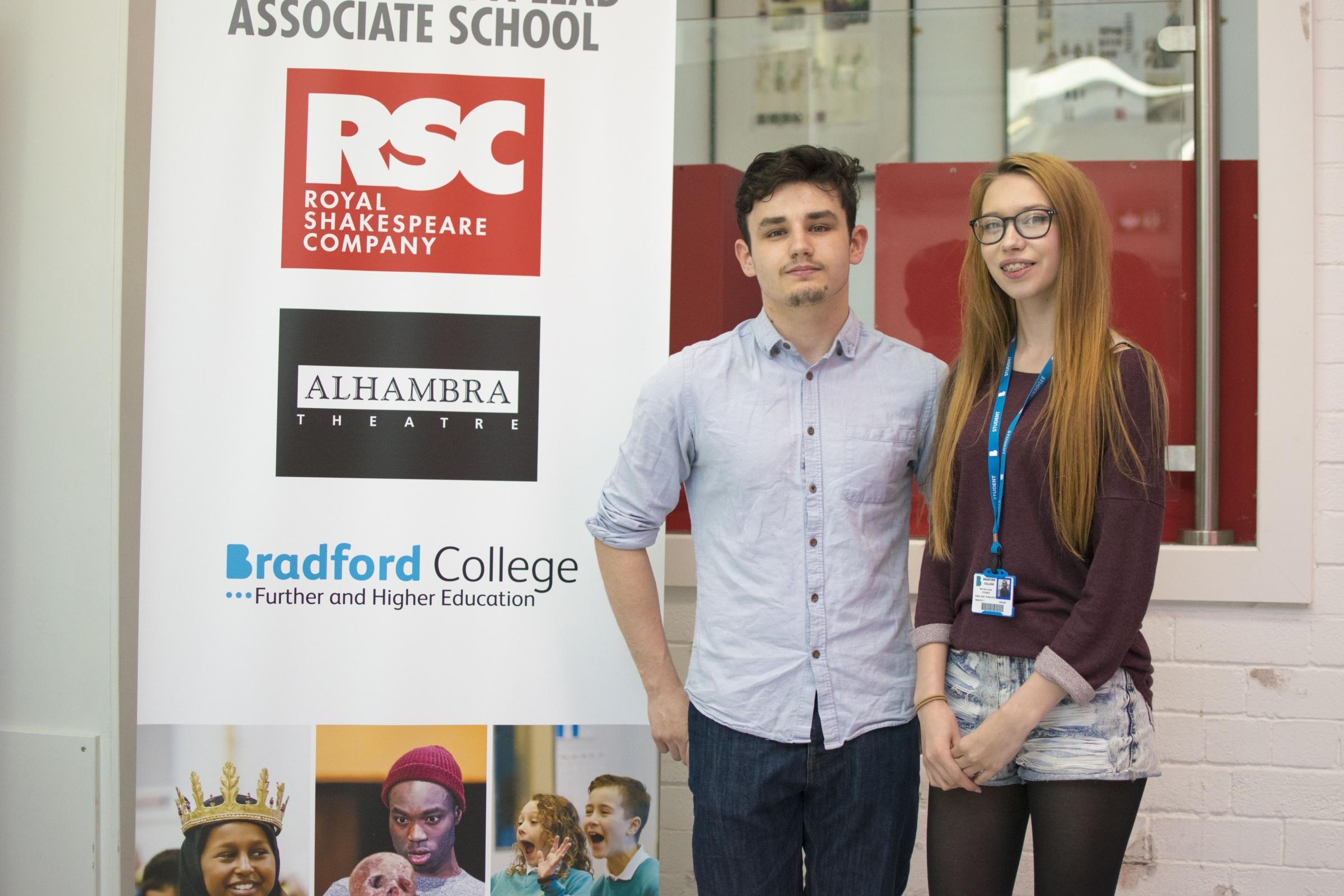 Bradford College students Bailay Illingworth and Ellen O'Keeffe have been working with the Royal Shakespeare Company