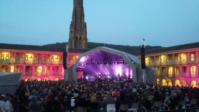 The beautiful setting of Piece Hall provided a unique backdrop for some fine live music led by Father John Misty