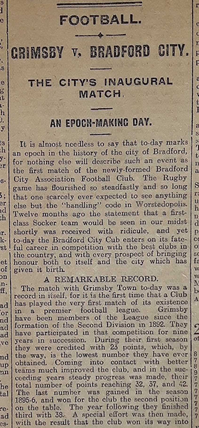 Bradford Daily Telegraph Tuesday September 1, 1903