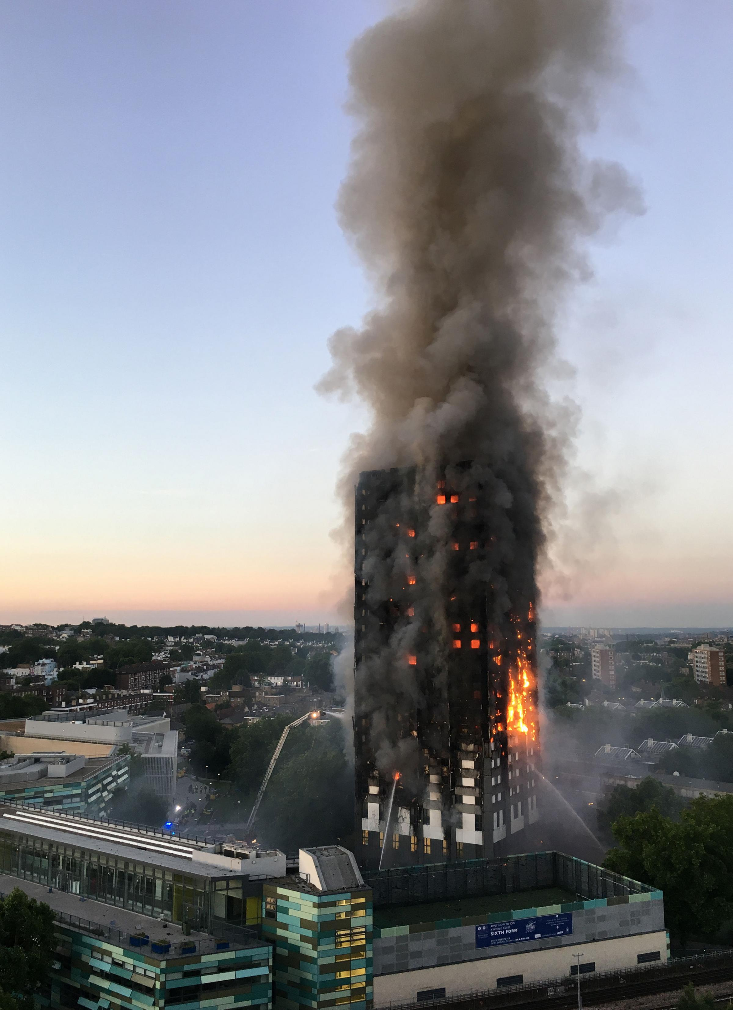 TRAGEDY: The Grenfell Tower fire disaster that claimed the lives of 72. Photo: Natalie Oxford/PA Wire.