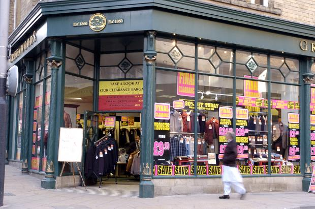 Greenwoods store in Bradford city centre