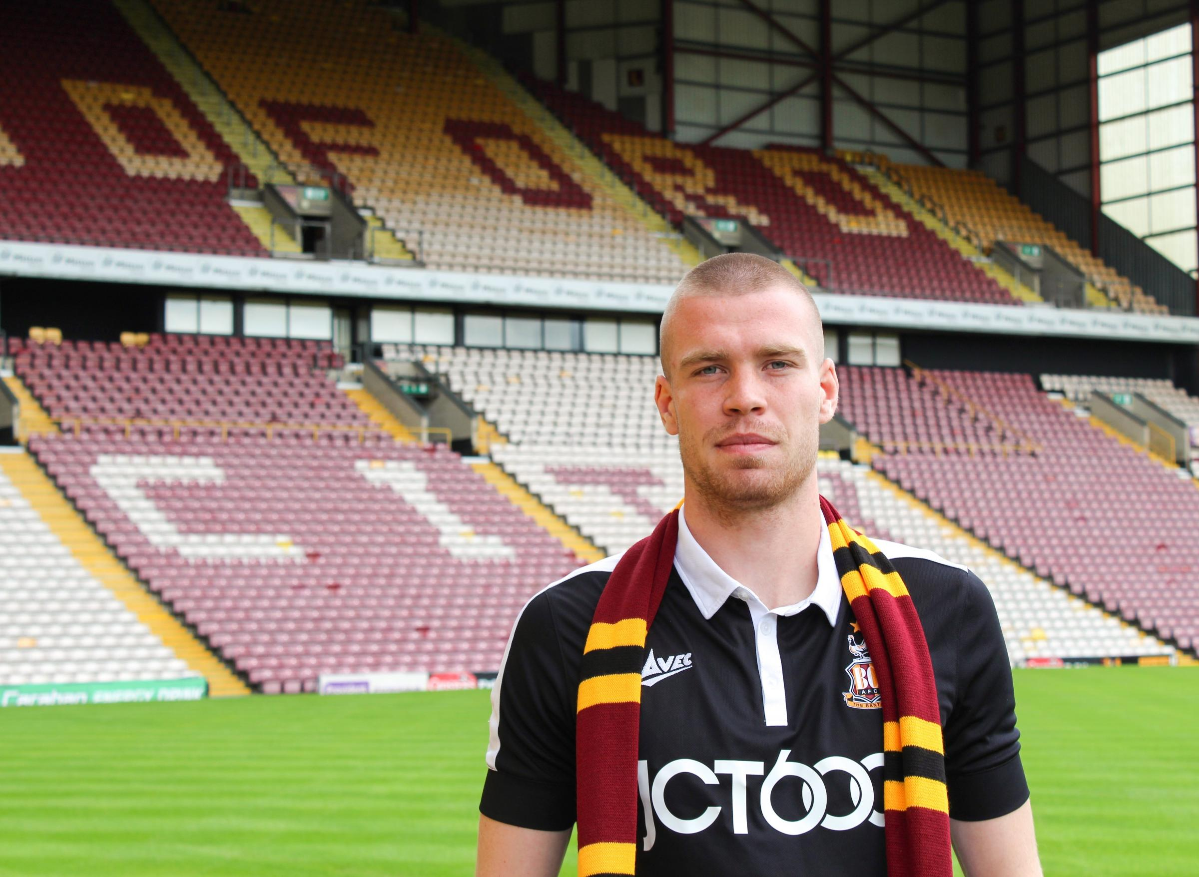 Thomas Isherwood believes City can provide an ideal environment for his development   Picture: Bradford City