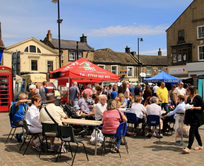 Fun in Otley at a previous Food and Drink Festival - the organisers are promising a 'slice of foodie heaven' at the 2018 event