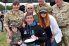 Paratrooper Lance Bombardier Ben Parkinson MBE was at Keighley Armed Forces Day