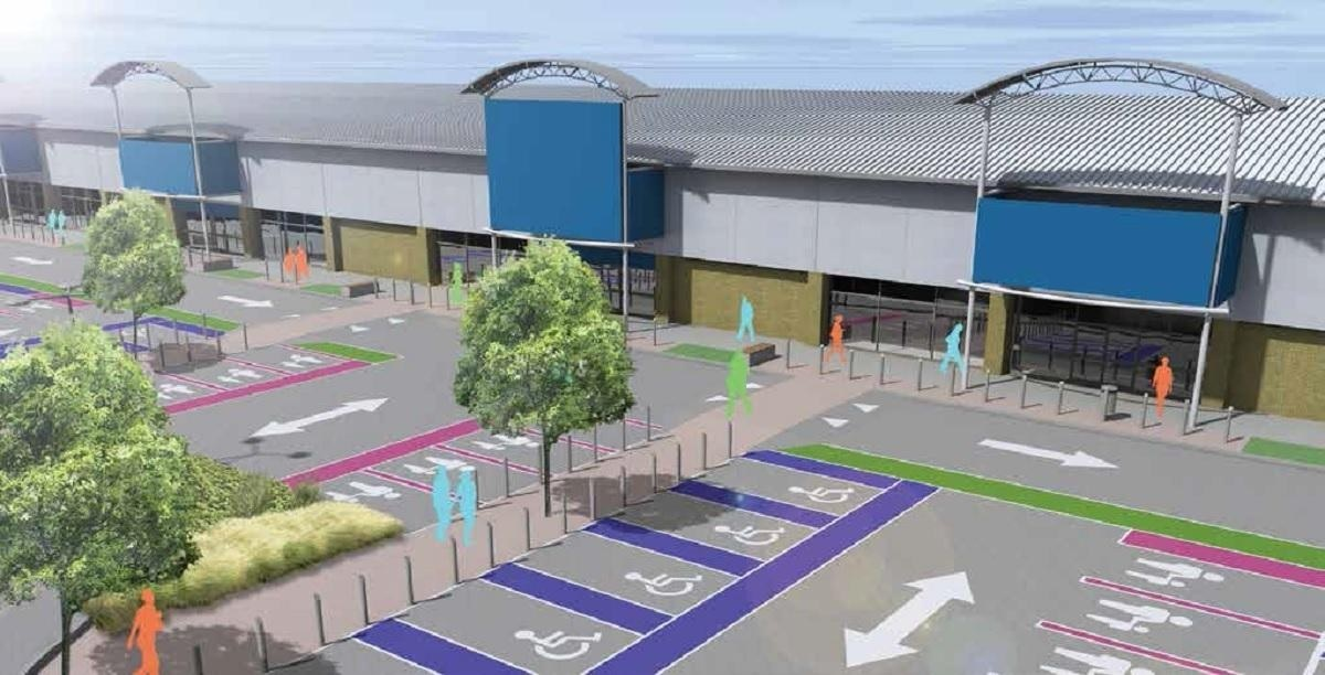 An artist's impression of the proposed new layout at Forster Square Retail park