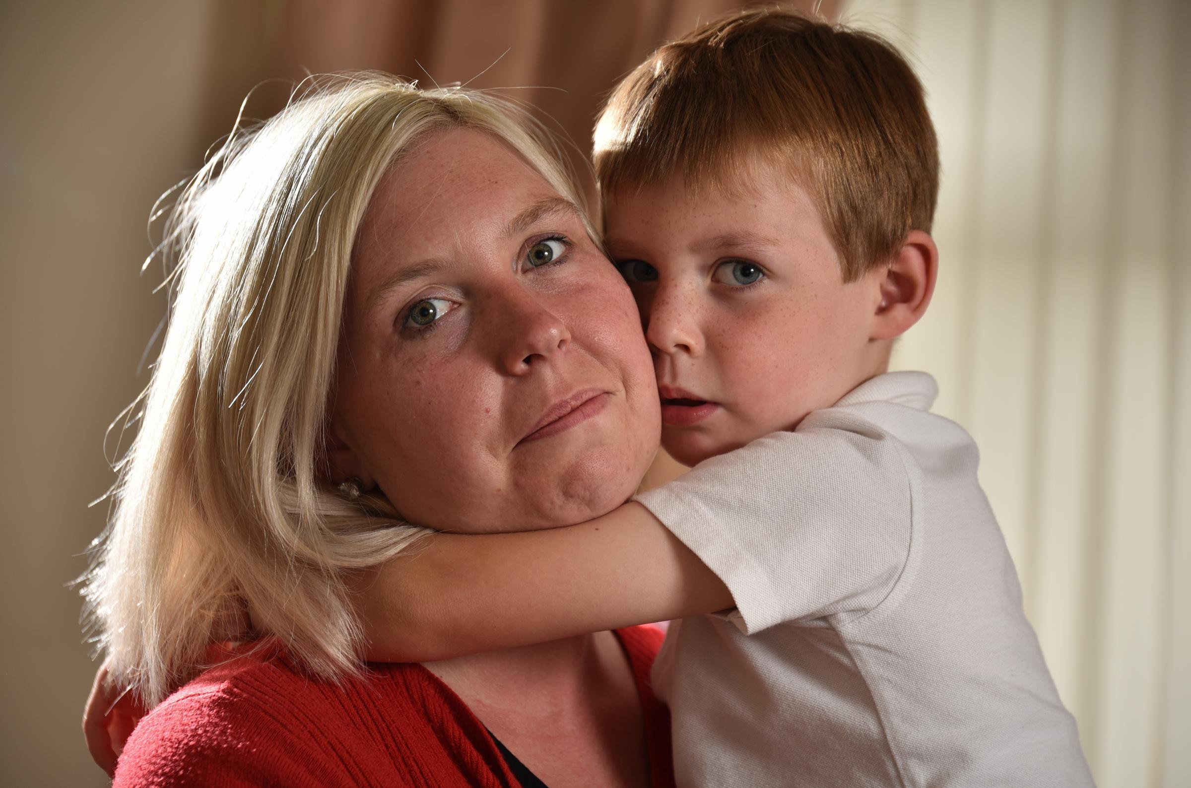 Emma Smith and her son five-year-old Oscar.  Oscar has Doose Syndrome, a form of epilepsy that is resistant to medication.