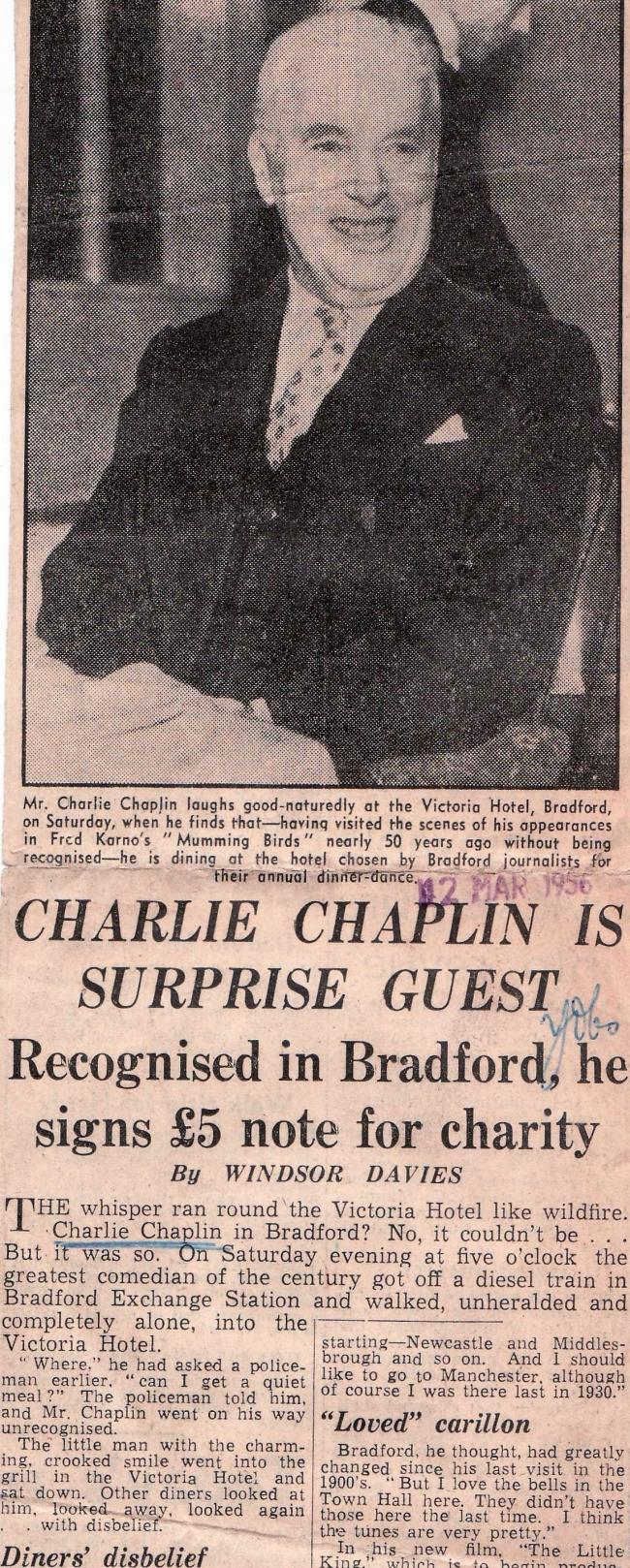 Yorkshire Observer Monday 12th March 1956