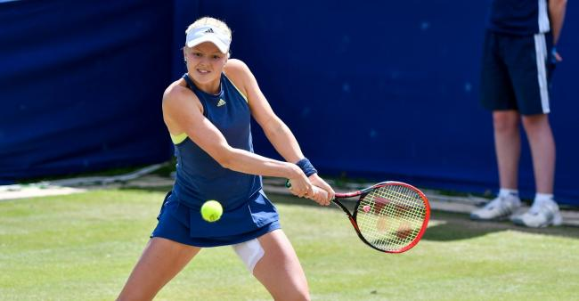 Harriet Dart, seen in action at Ilkley, meets seventh seed Karolina Pliskova at Wimbledon Picture: Andy Garbutt Photography