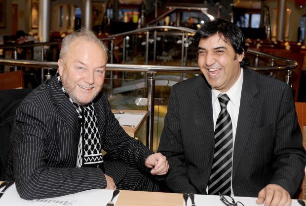 Bradford Telegraph and Argus: George Galloway and Arshad Ali