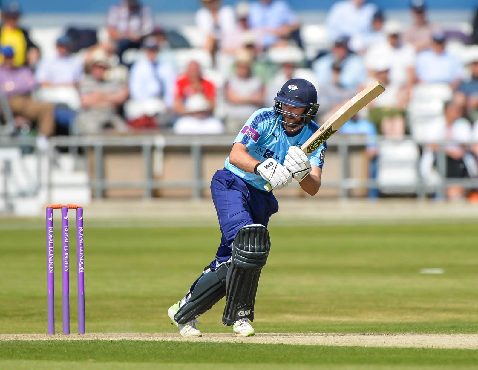 Adam Lyth hit 92 not out for Yorkshire