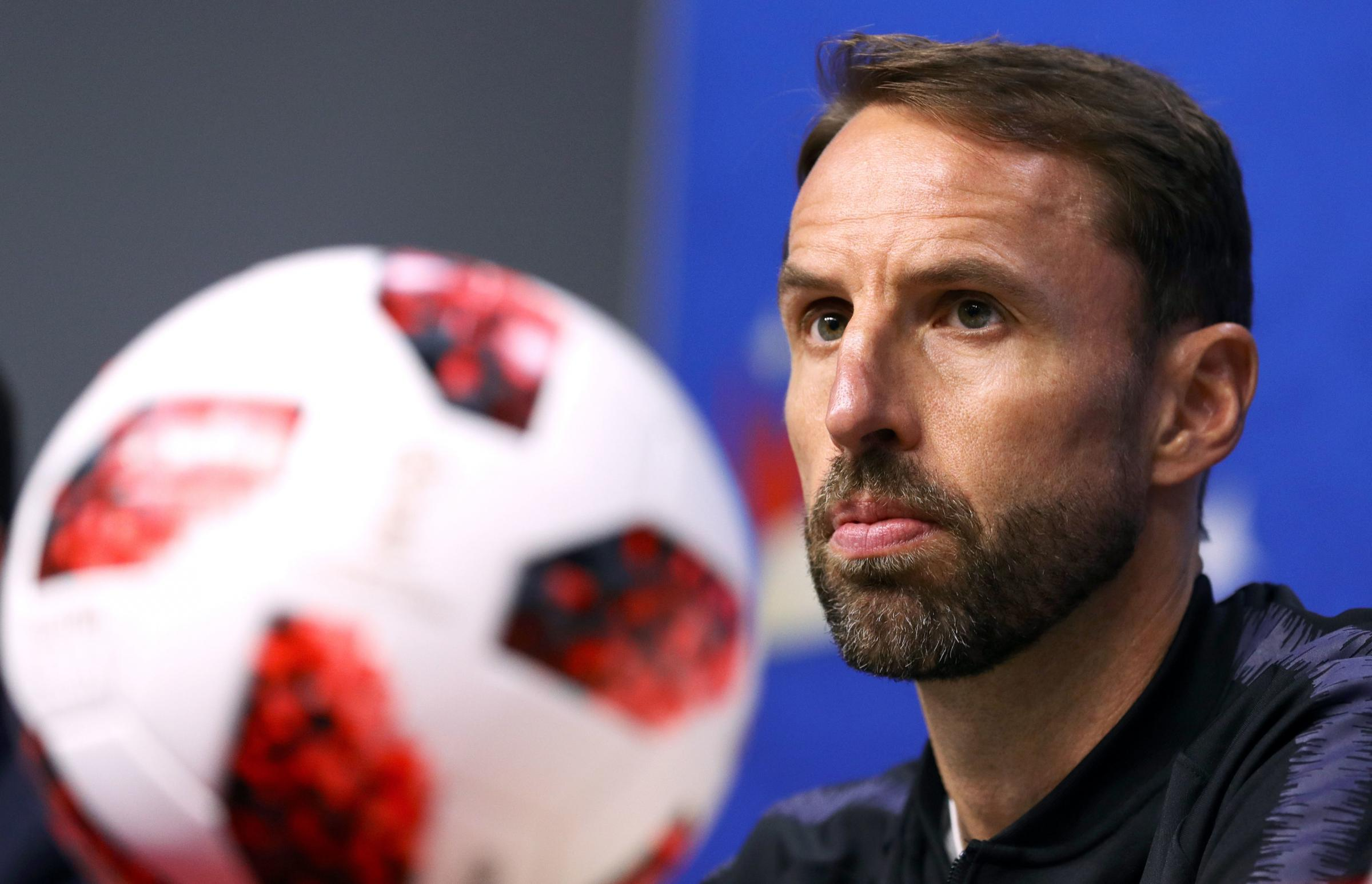 England manager Gareth Southgate during a press conference at the Samara Stadium. Picture: PA