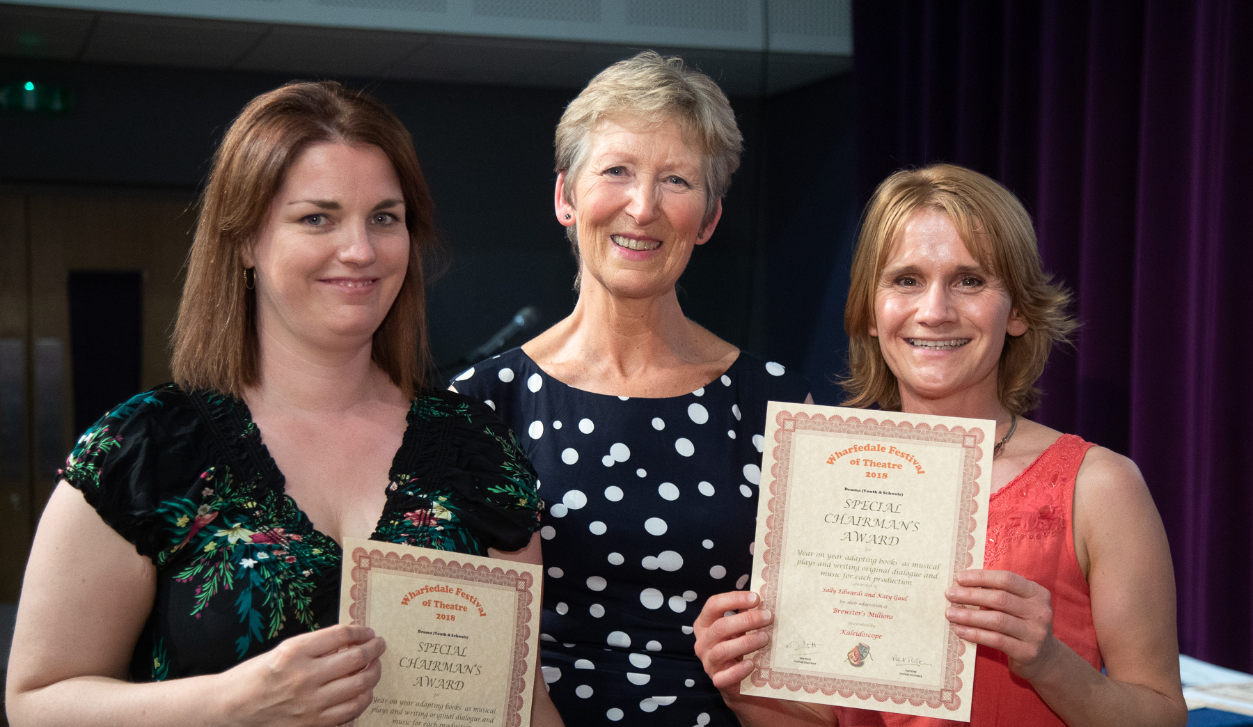 SKILL: Sally Edwards and Katy Gaul, director and musical director of Kaleidoscope, who won a Special Chairman's Award