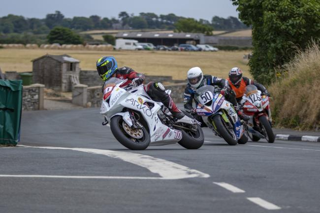 David Brook in action at the Southern 100 Picture: Ellan Vannin Images