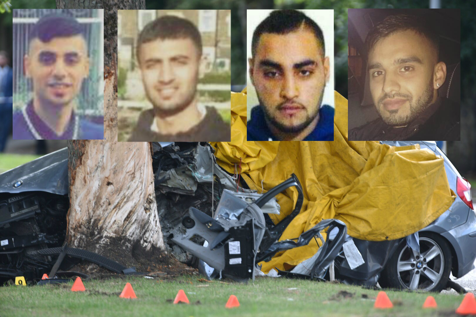 The four men killed in the Toller Lane crash